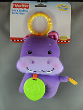 Fisher-Price Soft & Soothing Rattle Hippo 0+months - Brand New