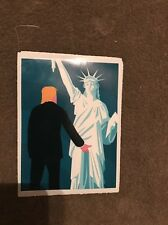 """Trump and Lady Liberty Grab By The P@@@Y Funny Political Sticker! 5""""hi×3""""w"""