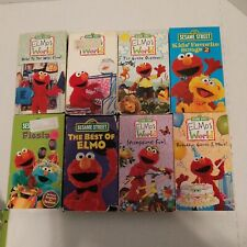 Sesame Street Elmo VHS Movies Lot Of 8