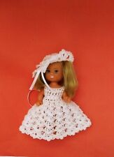 Doll dress and hat, crochet clothes, Kelly sister Barbie family 11 cm doll  #2