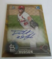 2016 Bowman Chrome Draft Dakota Hudson Gold Wave Refractor Prospect RC AUTO /50