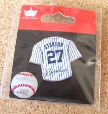 Giancarlo Stanton 27 NY New York Yankees jersey lapel pin