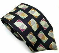 """Van Loren Blue Abstract Men's Tie 100% Silk 3.75"""" Width 60"""" Length"""