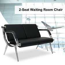 2 Seat Waiting Room Chair Office Salon Barber Bench Bank Airport Reception