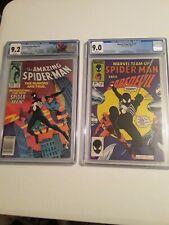Amazing Spider-man 252 Marvel Team Up 141 CGC Lot ASM First Suit Venom 9.0, 9.2