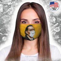 Artist Dali with mustache cover Face Mask -funny & cool - Washable and Reusable