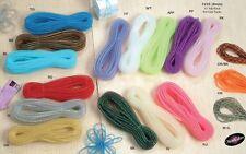 8mm Nylon Flexi Tube Mesh Ribbon Decoration GiftWrap Hair Braid Fashion Metallic