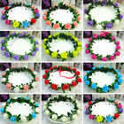 Boho Flower Crown Headband Garland Floral Hairband Festival Wedding Accessories