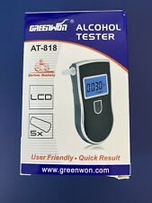 NEW GREENWON Professional Alcohol Tester Analyzer Digital Breathalyzer AT-818