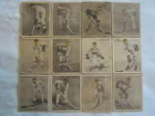 """(Set of 12) 1933 Toronto Maple Leafs V357 """"Ice Kings"""" Cards"""