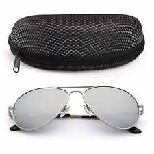 b535e53c96 Polarized Aviator Sunglasses for Women Men Case Vintage Sports Driving  Mirrored