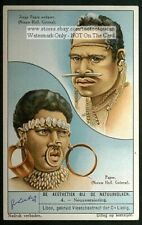 Nose Piercing In New Guinea 1930s Trade Ad Card