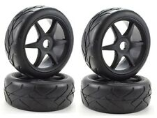 Apex RC Products 1/8 On-Road Black 6 Spoke Wheels / Super Grip Tires #6023 2Pack