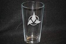 Star Trek Klingon Symbol Custom Etched Pint Glass