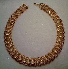 18K GOLD PLATED COLLAR NECKLACE MADE IN THE CZECH REPUBLIC