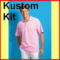 Mens Kustom Kit Pink polo shirt Short sleeve NEW Most Size available 100% cotton