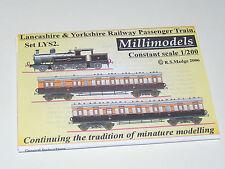 Millimodels Card/paper model L&Y Railway passenger train set LYS2 1/200 scale