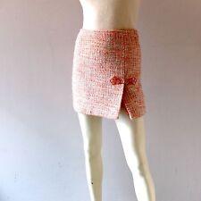 Sexy Mini Skirt Orange Wool Tweed Cynthia Steffe Size 2 Shirt Mini Skirt NYC XS