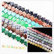 Beautiful Carved Mixed Gemstone Star Loose Bead 8 inch (20Pcs) 12x12x4mm YD1053