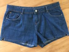 Ladies COTTON ON Denim Shorts Size 14 Blue Classic Mid Rise Short