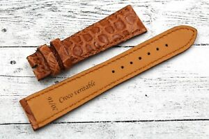 Watch Strap Colour Honey Real Leather Crocodile Hip Elegant 20/0 5/8in Barb