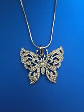 Mothers Day Gift Beautiful Swarovski Elements Crystal Butterfly Pendant Necklace