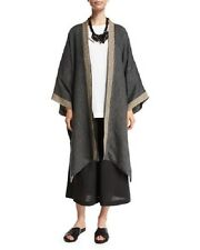 "NWT Eskandar Medium Weight Delave Linen REVERSIBLE  38"" Long Jacket (1) $975"