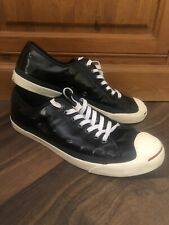 Converse Jack Purcell White Leather Trainers Size 10 UK