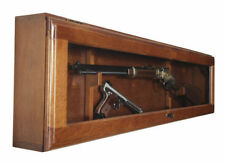 Gun Display Cabinet Locking Glass Door For Rifle and Hand Gun Horizontal Display