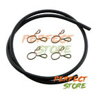 3ft Rubber Hose Fuel Line for Kawasaki (9mm OD) (6mm ID) Carb + Spring Clamp