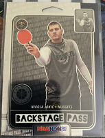 2019-20 PANINI HOOPS PREMIUM STOCK NIKOLA JOKIC BACKSTAGE PASS #4 NUGGETS