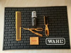 Barber set, Mat, Mister, clipper grip, cut throat, comb & fade brush