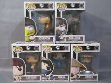 Funko Lot Mortal Kombat X SCORPION SUB-ZERO LIU KANG KITANA RAIDEN POP Set