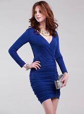 BCBG Max Azria Robe de Cocktail-Bleu Profond-UK 10