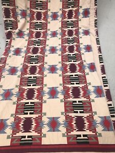 Eddie Bauer Home DUVET Cover Flannel Southwest Cabin Mountain Lake Bedding