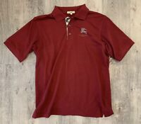 Men's Burberry London shirt Polo Nova Check Red Size XL