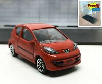 Majorette Peugeot 107 Red 1/55 205F Wheel 5U no Package Free Display Box