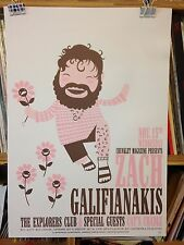 Zach Galifianakis Concert Poster design by Chris Bilheimer edn of 40