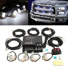 Hide Away Emergency Strobe Light Headlight Kit Warning System 4 HID Bulbs WHITE