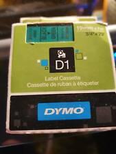 DYMO D1 Schriftbandkassette schwarz auf grün 19mm / 7m S0720890