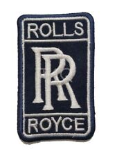 Rolls Royce Embroidered Logo Crest Badge Iron /Sew On Fancy Dress Patch