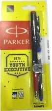 Parker Beta Youth Executive Black body Red Trim Fountain Pen - Fine Nib Original