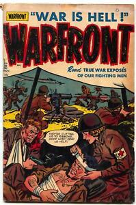 Warfront #2 1951- Harvey War Comic- Korea- Nurse cover VG