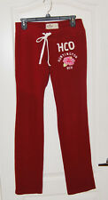 HOLLISTER California Stretch Wine flower fleece yoga sweat pants S 4 30 x 36 L