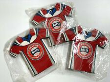 3X Carlton Mid Stubby Holder Football Shirt Type Always thinking Footy - New