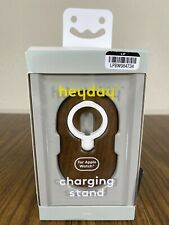 heyday Apple Watch Charging Stand Solid Walnut Wood Brand New In Box