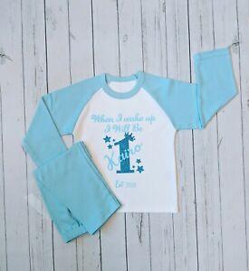 Personalised 1st Birthday Custom Crown Pyjamas