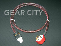 cpdmk 1.5m 5ft 13mm UK Mains Power Silver Cable Shield Cord MK IEC Plug Amp HiFi