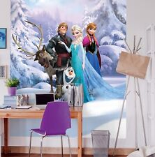 Photo wallpaper Frozen Winter Land girl's bedroom wall mural giant Disney poster