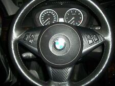 BMW E60 530i CARBON FIBER STEERING WHEEL KIT (2 FOR 1 SALE $8.99)  FAST AIRMAIL
